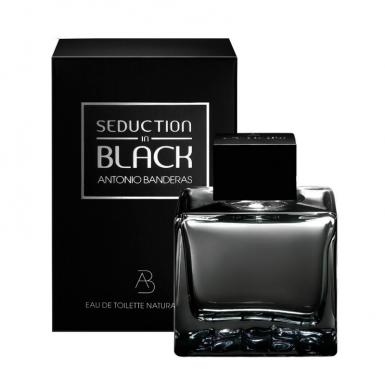 foto ANTONIO BANDERAS SEDUCTION BLACK EDT MASC 200ML