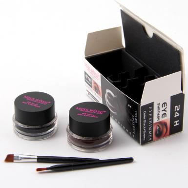 foto MISS ROSE 24H EYE SHIMMER BLACK+BROWN 7402-109